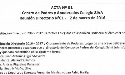 Acta Marzo 2016 – Nueva directiva