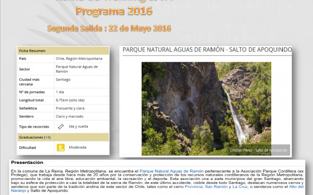 Segunda Salida 2016 / Domingo, 22 de Mayo de 2016